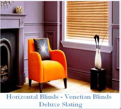 HORISONTAL BLINDS DELUXE SLATING