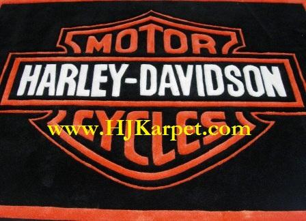 KARPET LAMBANG HARLEY DAVIDSON