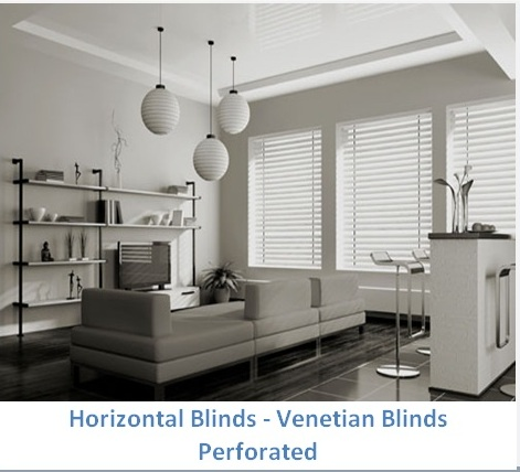 HORIZONTAL BLINDS PERFORATED