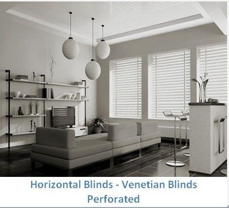 HORIZONTAL BLINDS PERFORATED