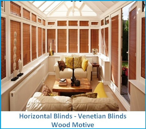 HORIZONTAL BLINDS WOOD MOTIVE