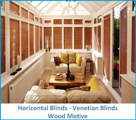 HORIZONTAL BLINDS WOOD MOTIVE