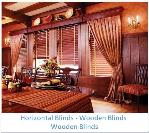HORISONTAL BLINDS WOODEN