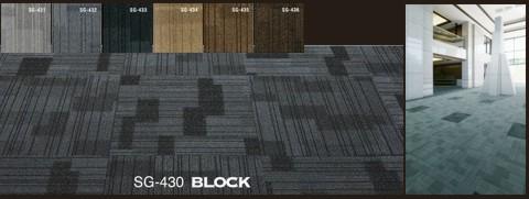 Karpet Sumi Green Block