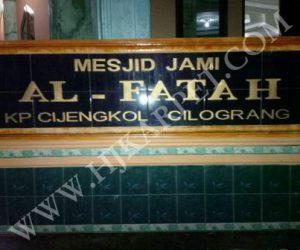 Pemasangan Karpet Sajadah Masjid Jami Al Fatah Banten