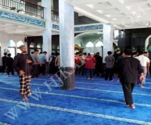 Pemasangan Karpet Masjid NURUL MAA I PDAM Tirta Pakua