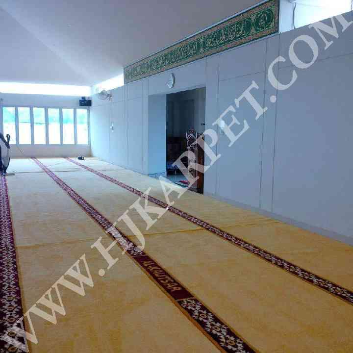 Pemasangan Karpet Masjid Al Kautsar PT Tachi cikarang