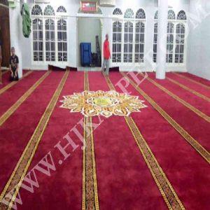 Pemasangan Karpet Masjid Isti Adah Medan Sumatra Utara