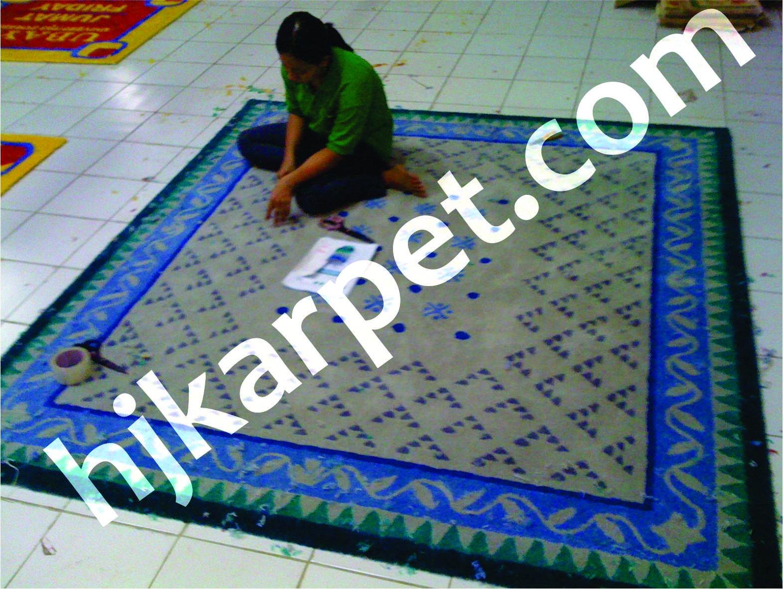 Pemasangan Karpet Handtufted Gubernur Jawa Barat