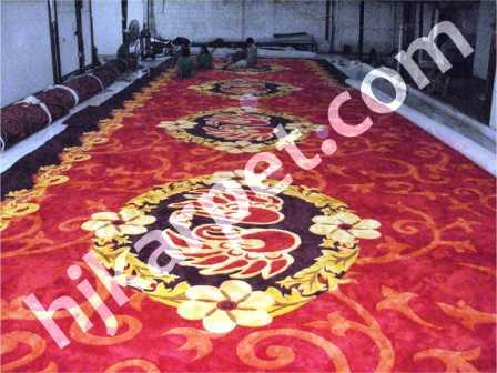 Pemasangan Karpet Handtufted Gubernur Jambi