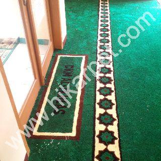 Pemasangan Karpet Masjid PT jawamanis rafinasi