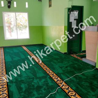 Pemasangan Karpet Musholla Al Marzuq Babelan Bekasi
