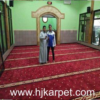 Pemasangan Karpet Masjid At Taqwa Pondok Legi Sidoarjo