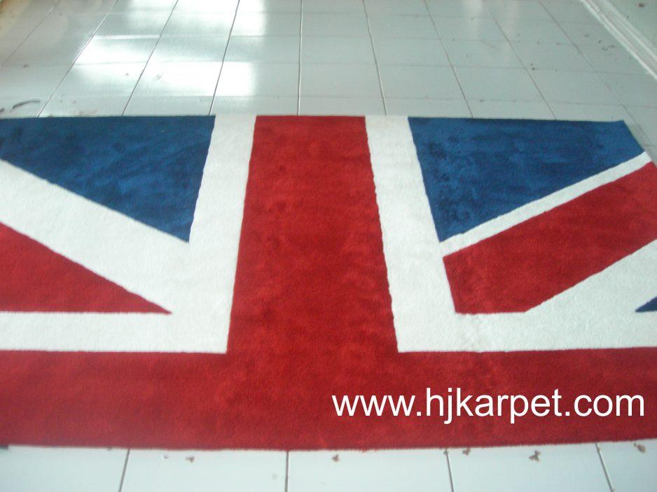 Karpet santai Motif Bendera
