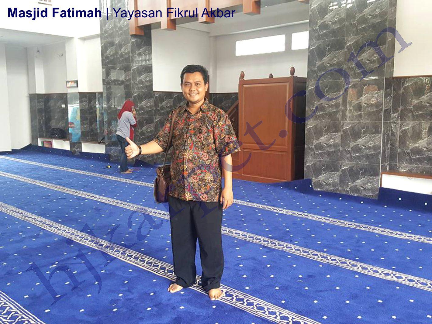 Karpet Masjid Fatimah Yayasan Fikrul Akbar