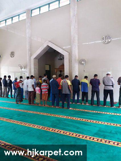 karpet masjid di lombok utara