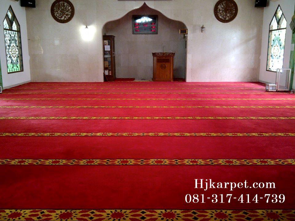 Pemasangan Karpet Masjid Jabal Ar Rahmah Pamulang