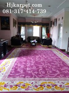 Pemasangan Karpet Handmade Rumah H Iyus Sukabumi