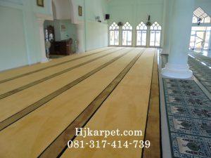 Pemasangan Karpet Masjid Ar Rahman Bangka