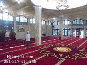 Pemasangan Karpet Masjid Jami Al Baidho Ciledug
