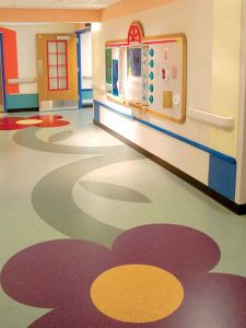 Vinyl Roll Health Care Floor