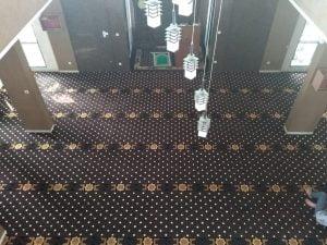 Pemasangan Karpet Masjid Handmade SMA 4 Bekasi