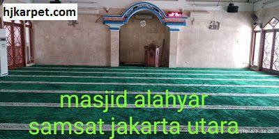 Pjual karpet masjid turki berkualitas | masjid al ahyar samsat jakarta utara
