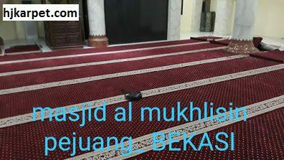 Jual karpet masjid turki berkualitas | masjid al mukhlisin bekasi