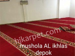 Pemasangan  Karpet Masjid Custom Al Ikhlas Depok