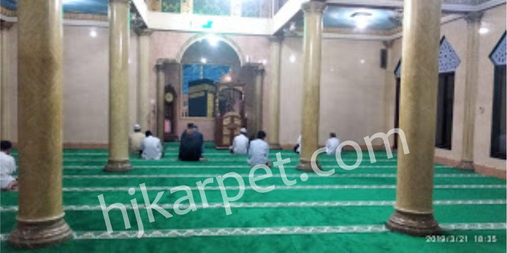 Pemasangan Karpet Masjid Al Falah Rawamangun Jakarta Timur
